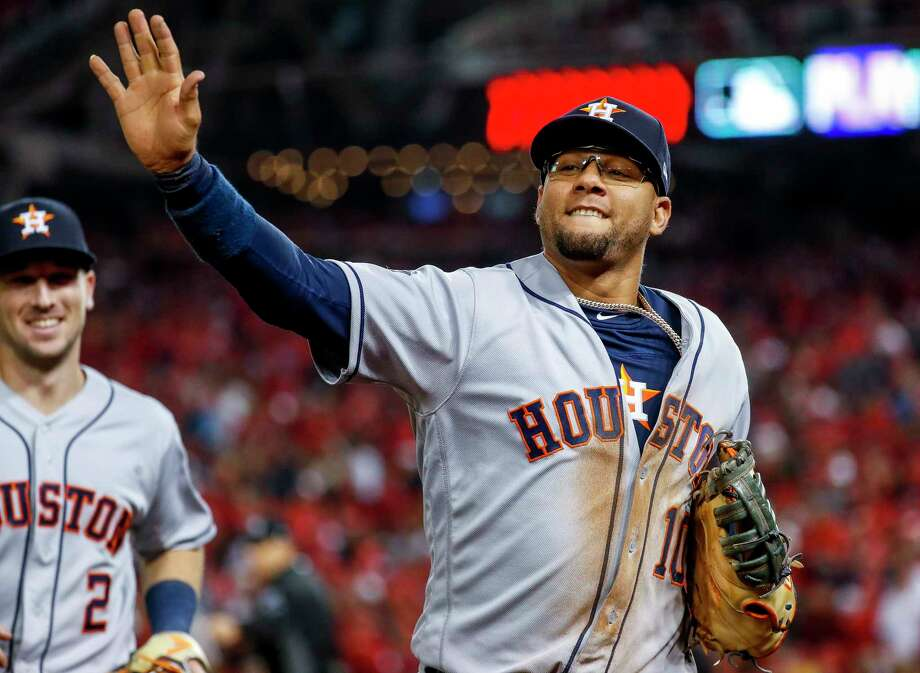 Astros first baseman Yuli Gurriel, in the World Series vs Washington, has agreed on a new contract. Photo: Karen Warren, Staff Photographer / © 2019 Houston Chronicle