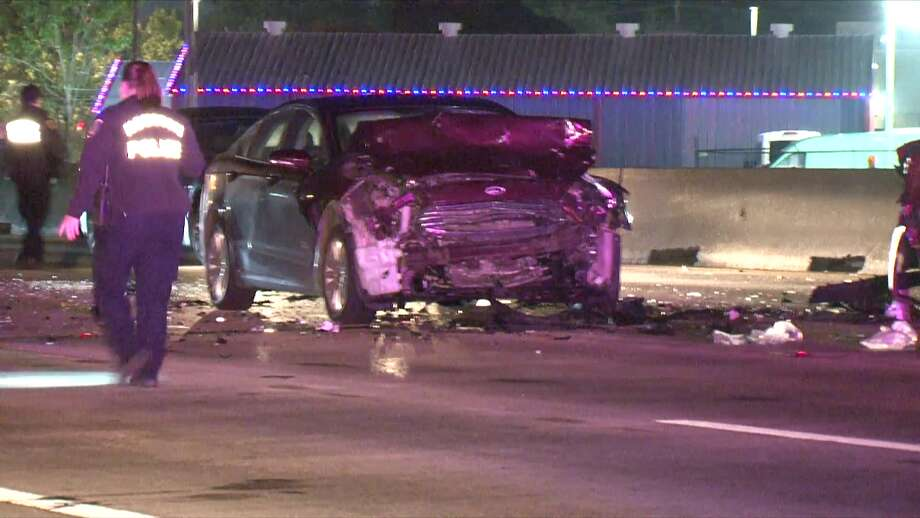A woman died early Sunday following a multiple-car crash in Spring, police said. Photo: Metro Video Services