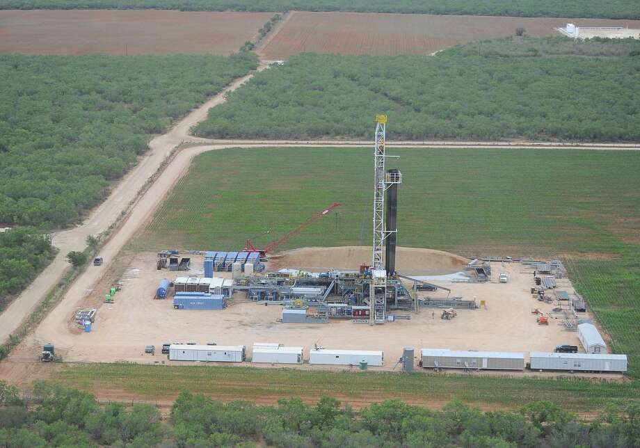 An aerial view shows drilling activity at a Carrizo Oil & Gas wells in northern LaSalle County. Photo: Carrizo Oil & Gas / Carrizo Oil & Gas