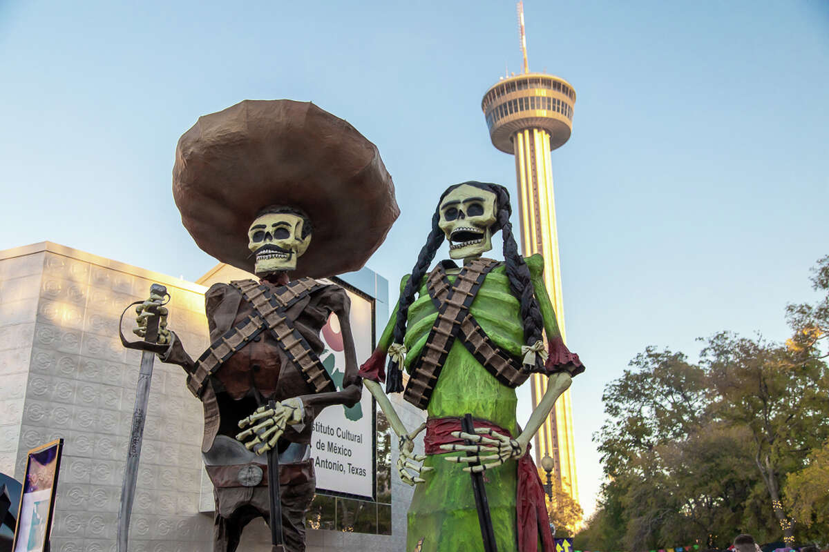 San Antonians celebrate Day of the Dead at the 7th Annual Día de los Muertos event located downtown at the Hemisfair on Saturday October 26, 2019.