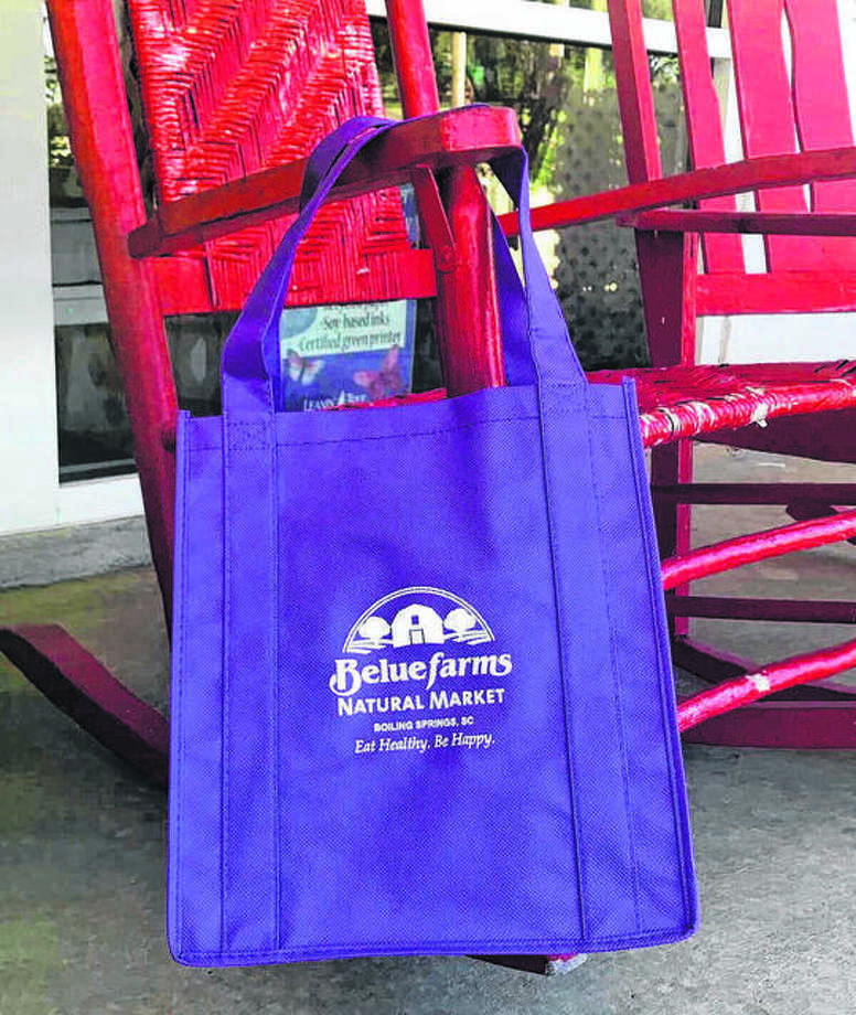 Reusable bags like these are one goal of the city's recently passed single-use bag fee ordinance on paper and plastic bags. The ordinance takes effect April 1, 2020. Photo: Hearst File Photo
