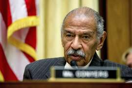 FILE - In this May 24, 2016, file photo, Rep. John Conyers, D-Mich., ranking member on the House Judiciary Committee, speaks on Capitol Hill in Washington during a hearing. Michigan state Sen. Ian Conyers, a grandson of Conyers' brother, told The New York Times for a story Tuesday, Dec. 5, 2017, that Conyers, who is battling sexual harassment allegations from former female staffers, won't seek re-election to a 28th term in Congress. (AP Photo/Andrew Harnik, File)