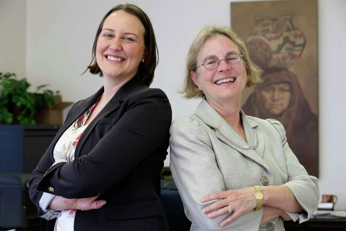 Rebecca McMahon, left, is the new president of Rochal Industries. She's with company co-founder Ann Beal Salamone.