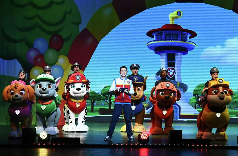 "PAW PATROL: After two shows on Saturday, Nov. 2, Nickelodeon And VStar Entertainment Group's ""PAW Patrol Live! ""Race to the Rescue,"" seen here in California, will perform two shows at Oakdale Theatre in Wallingford Sunday, Nov. 3, at 10 a.m. and 2 p.m. Photo: Emma McIntyre / Getty Images / 2017 Getty Images"