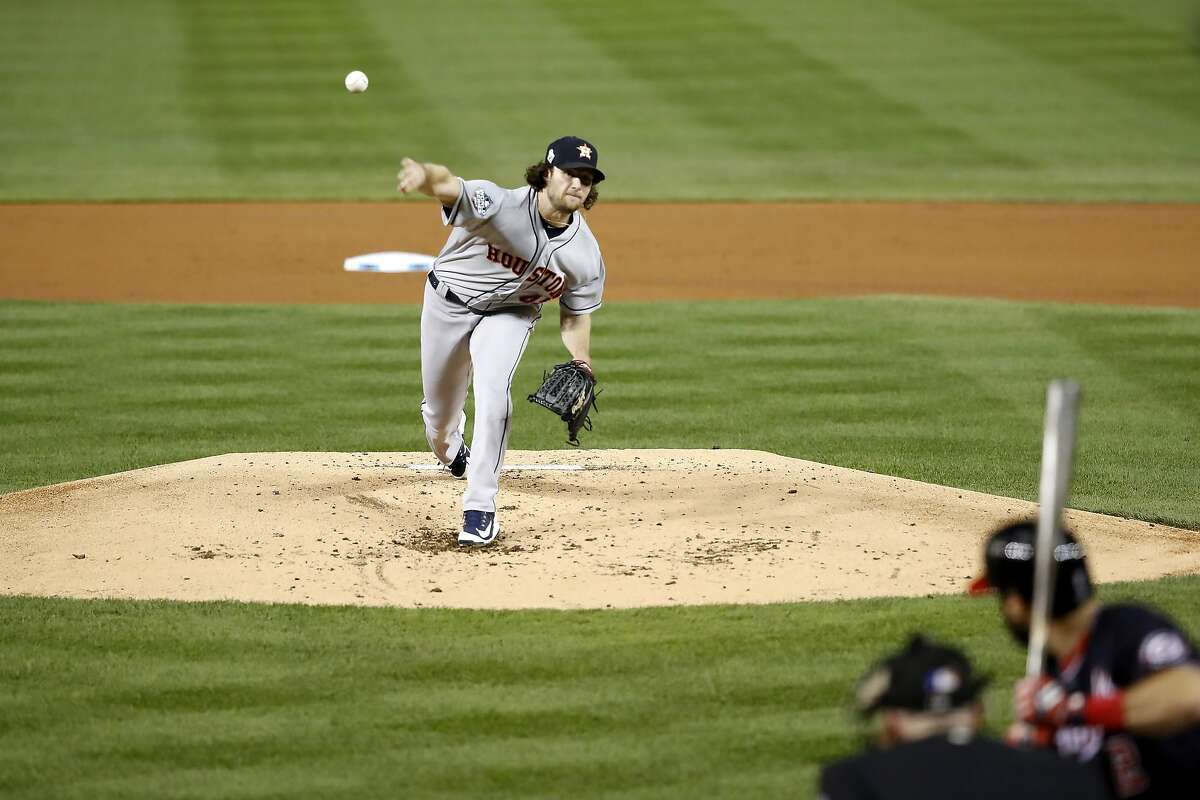 Gerrit Cole shuts down the Nationals in Game 5 of the World Series Cole appears on this list several times. But his latest pitching gem takes the cake. In the biggest game of the season, he delivered a championship-level outing.