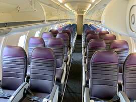 There are 40 seats in the economy cabin: 20 are extra-legroom Economy Plus seats.
