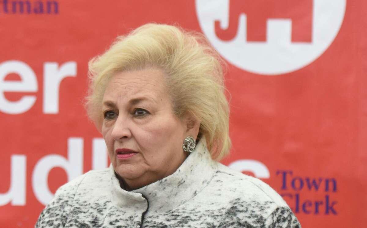 Incumbent Republican Town Clerk Carmella Budkins