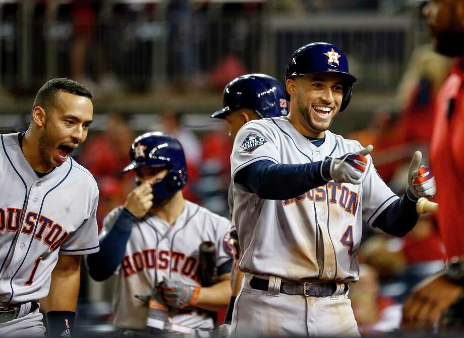George Springer's two-run homer in the ninth added an exclamation point to Houston's weekend in Washington. Photo: Karen Warren, Houston Chronicle / Staff Photographer / © 2019 Houston Chronicle