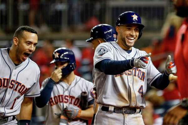 George Springer's two-run homer in the ninth added an exclamation point to Houston's weekend in Washington.