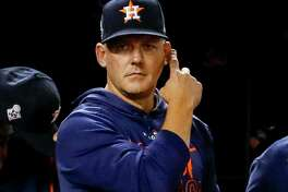 By making all the right moves during three games in Washington, manager A.J. Hinch has the Astros on the cusp of a championship.
