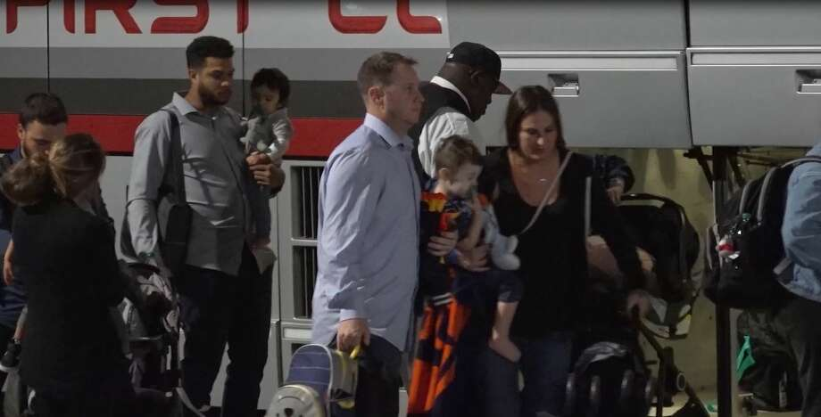 The Houston Astros arrived back in town early Monday after stomping the Washington Nationals in game 5 of the World Series this weekend. Photo: OnScene.TV