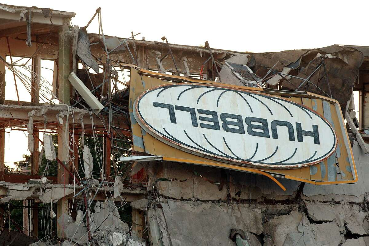 The last vestige of the Hubbell factory on State St. in Bridgeport. The building was demolished in 2005. The former Hubbell site has been considered a possible location for a new Bassick High School.