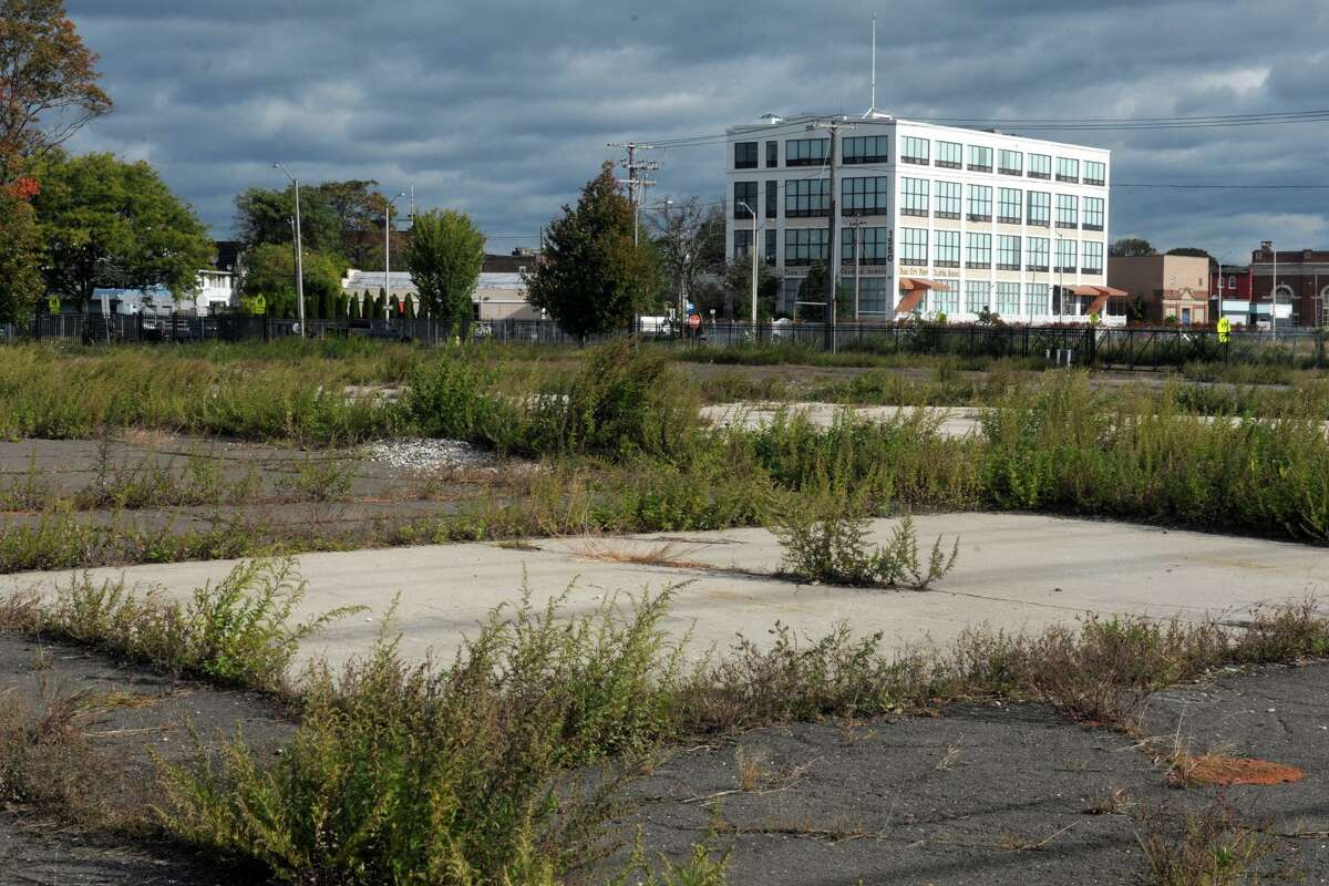 The former Harvey Hubbell property on Bridgeport's West Side is the proposed site of the new Bassick High School, in Bridgeport, Conn. Oct. 17, 2019.