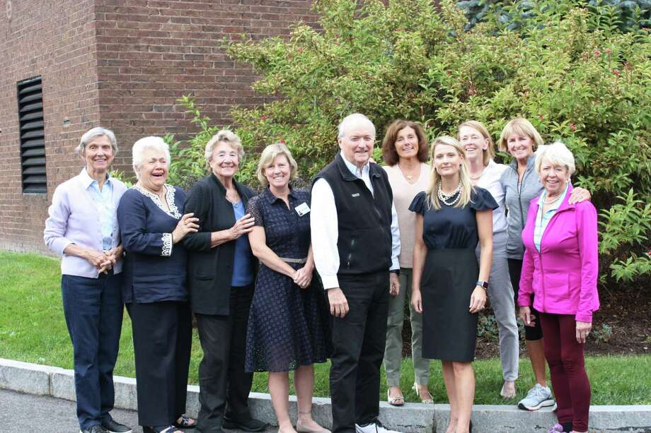 The Waveny LifeCare Network launches its fall appeal with help from its volunteer Development Committee Molly DePatie, Chris Hussey, Lila Coleman, Michelle Ernst, Mike Glazer, Tracey Hamill, Marian Curtis Blair, Jodie Heyn, Linda Twombly and Judy Bentley (not pictured: Ellen McMahon, Mim Moynihan, Tish Adair, Chris Smith and Amy Reid). Built by the community nearly 45 years ago, Waveny looks to friends and neighbors for continued support of its essential services for our seniors. Photo: Contributed photo Photo: Contributed Photo