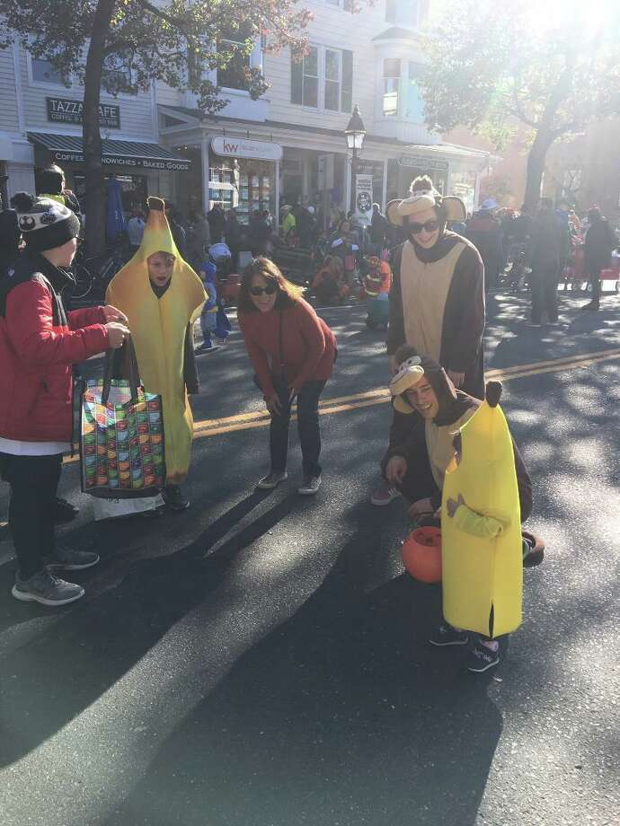 A pair of like-minded bananas crossed paths during the Halloween Walk on Saturday, Oct. 26. Photo: Contributed Photo