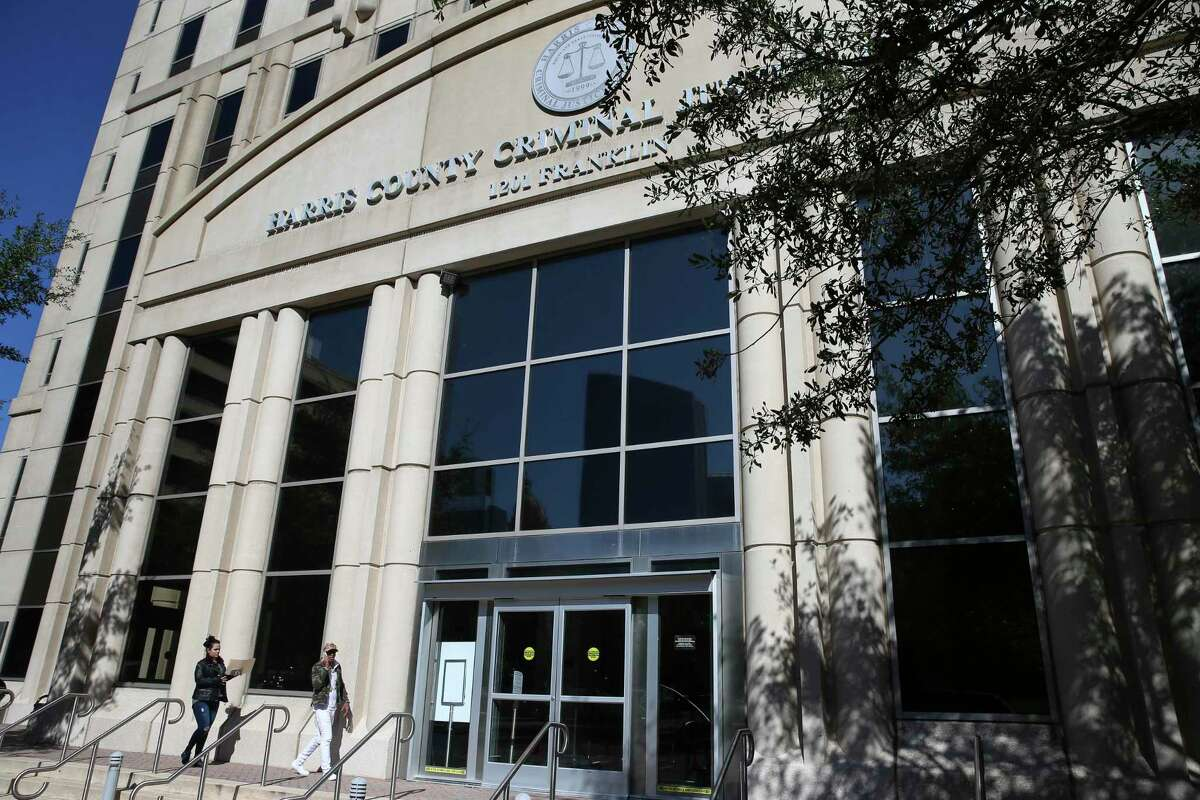 The Harris County Criminal Justice Center, shown here Nov. 16, 2018, in downtown Houston.