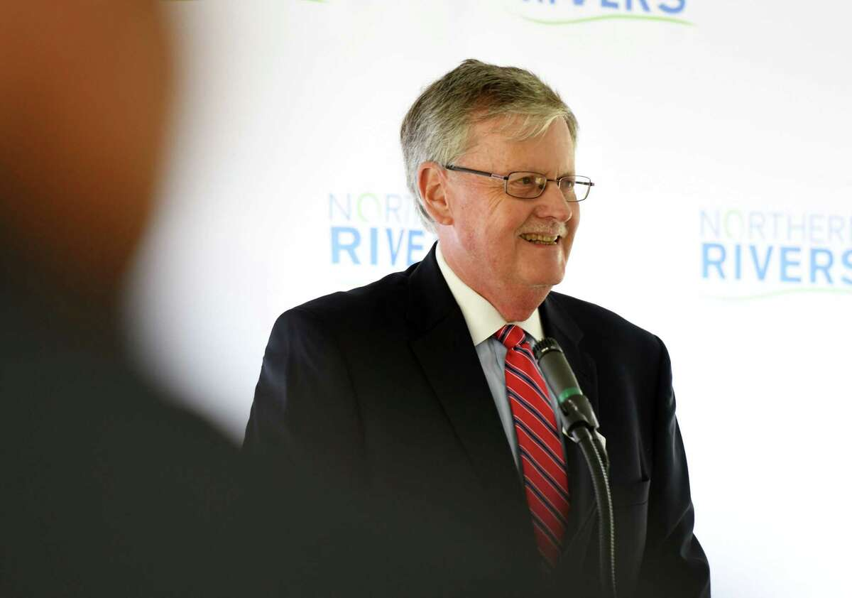William Gettman, chief executive officer of Northern Rivers Family of Services, speaks during a ribbon cutting the mark the completion of a new $10 million Behavioral Health Care Center on Thursday, Sept. 26, 2019, in Albany, N.Y. (Will Waldron/Times Union)