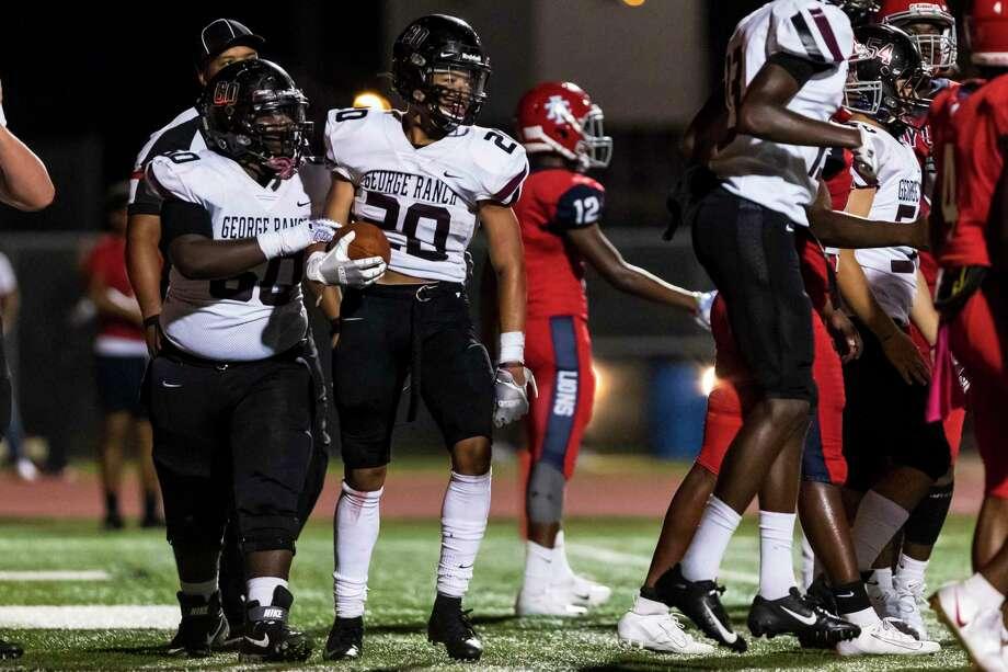 George Ranch running back Hymond Drinkard (20) scores the go ahead touchdown earlier this season. Photo: Joe Buvid, Houston Chronicle / Contributor / © 2019 Joe Buvid
