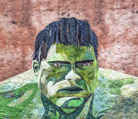 """Hulk"" by Anna Julia, will be in the ""Quilted Comics and Sci-Fi"" exhibit at the 2019 International Quilt Festival in Houston."