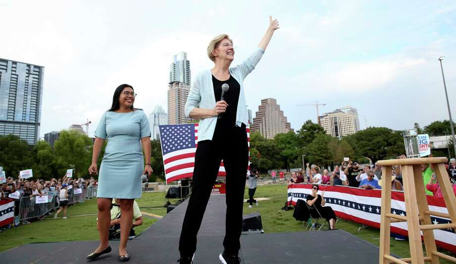 "Presidential candidate Elizabeth Warren held a town hall meeting in Austin last month. Warren is inching toward President Donald Trump's ""I alone can fix it"" mentality. Photo: Tom Reel /Staff Photographer / 2019 SAN ANTONIO EXPRESS-NEWS"