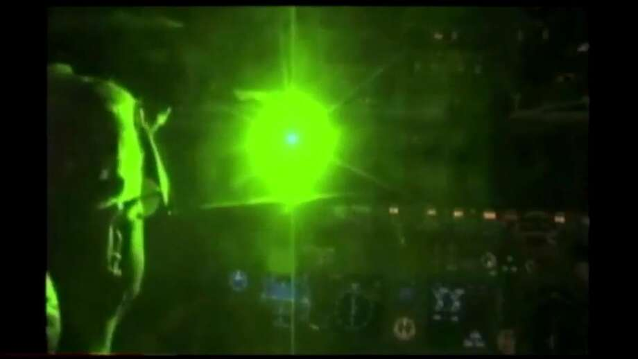 File photo of a laser pointed into a plane's cockpit. Photo: Courtesy KOMO