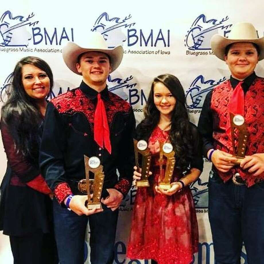 This year's season of winter performances at Harman Auction Center in Shipman kicks off with The Baker Family — from left, Carrie, Trustin, Carina and Elijah Baker — at 7 p.m. on Saturday, Nov. 2.