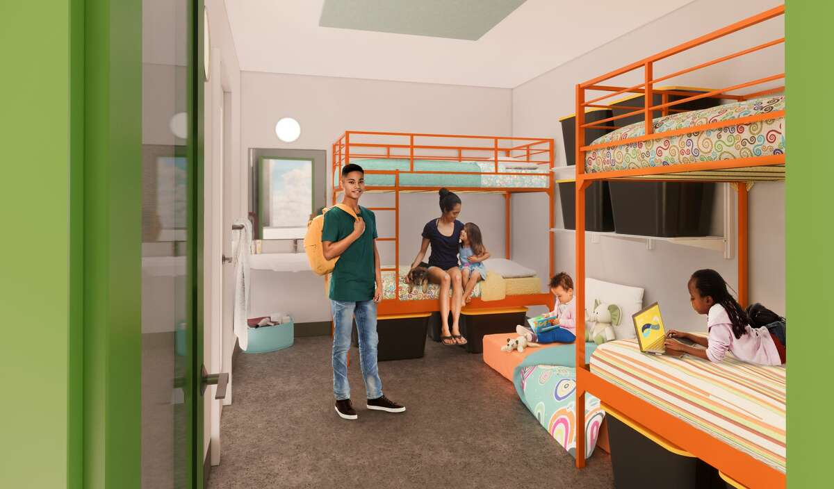 Mary's Place Popsicle Place Bedroom - A bedroom with a lavatory that sleeps 4 - 6 family members