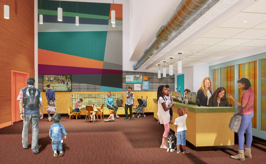 Mary's Place Lobby - Street level entry with reception Photo: Renderings Courtesy Of Graphite