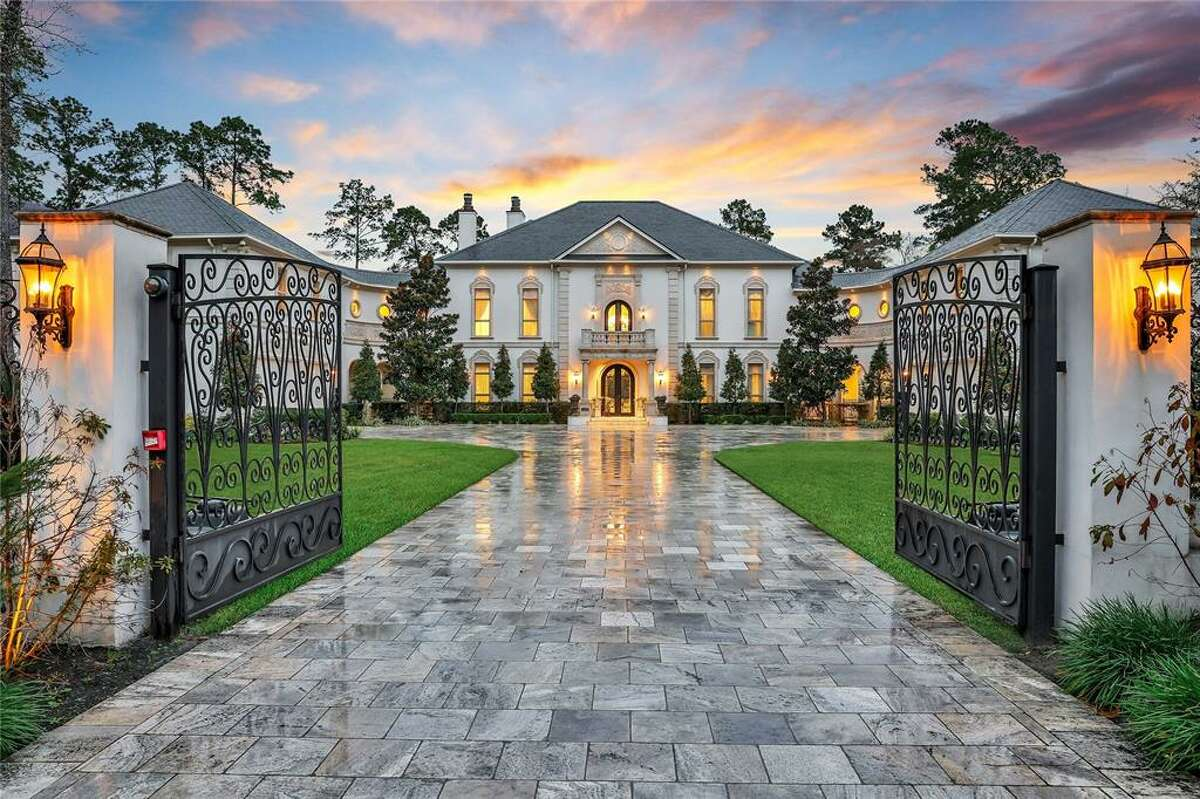 Located in the prestigious Carlton Woods community, this lavish $6 million Woodlands estate boasts its own backyard resort and an over-the-top master closet that comes with its own mini-kitchen. Situated over nearly two acres, the mansion offers 3,000 square feet of balconies and houses a two-bedroom apartment; a media and billiards room that encompasses the entire third floor; infinity pool and personal gym.