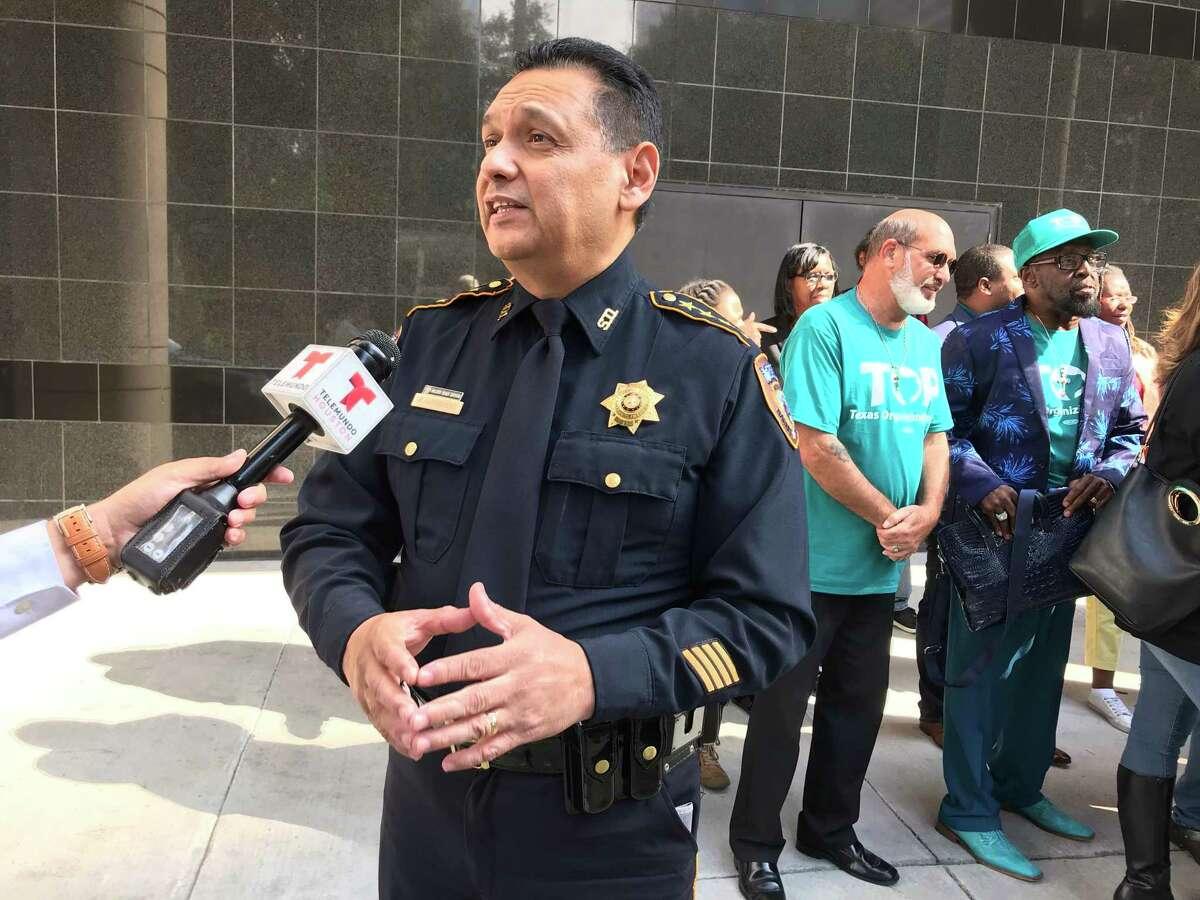 Harris County Sheriff Ed Gonzalez called a pilot gun surrender program enacted last December a success.