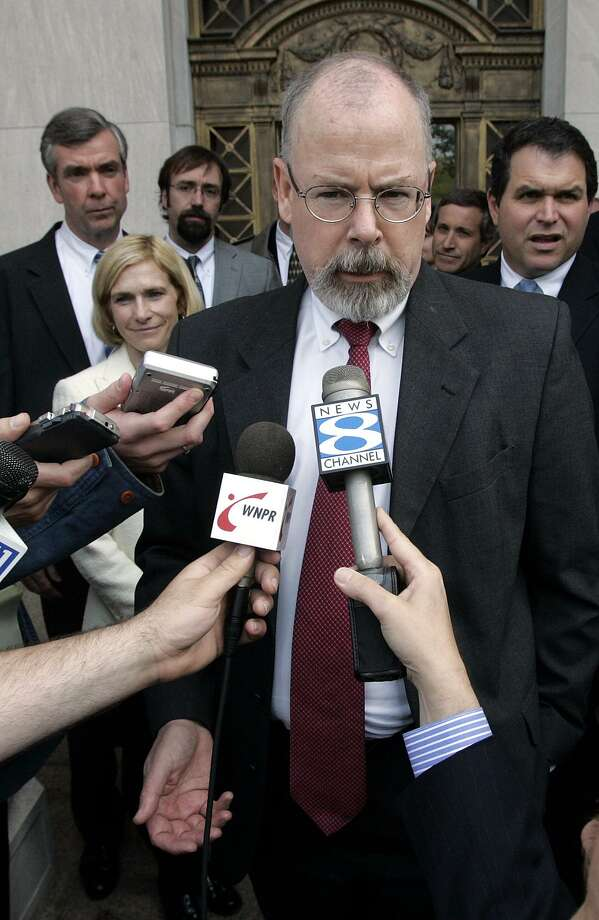 Connecticut's U.S. Attorney John Durham is now dividing his time between offices in Washington and New Haven as his investigation into the Federal Bureau of Investigation's Russia probe progresses into a criminal inquiry. Photo: Bob Child / AP / AP