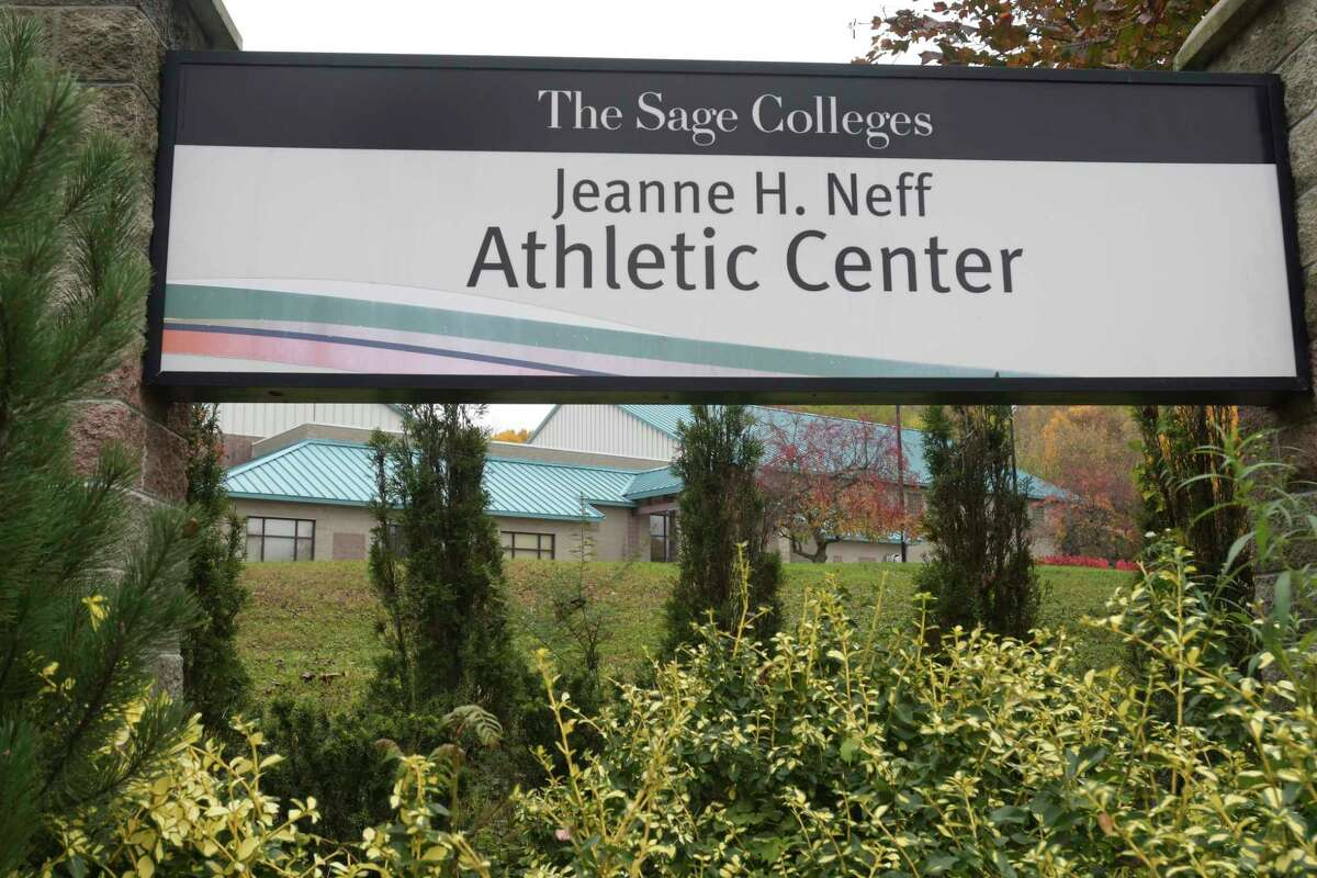 A view of The Sage Colleges Jeanne H. Neff Athletic Center on Monday, Oct. 28, 2019, in Troy, N.Y. (Paul Buckowski/Times Union)