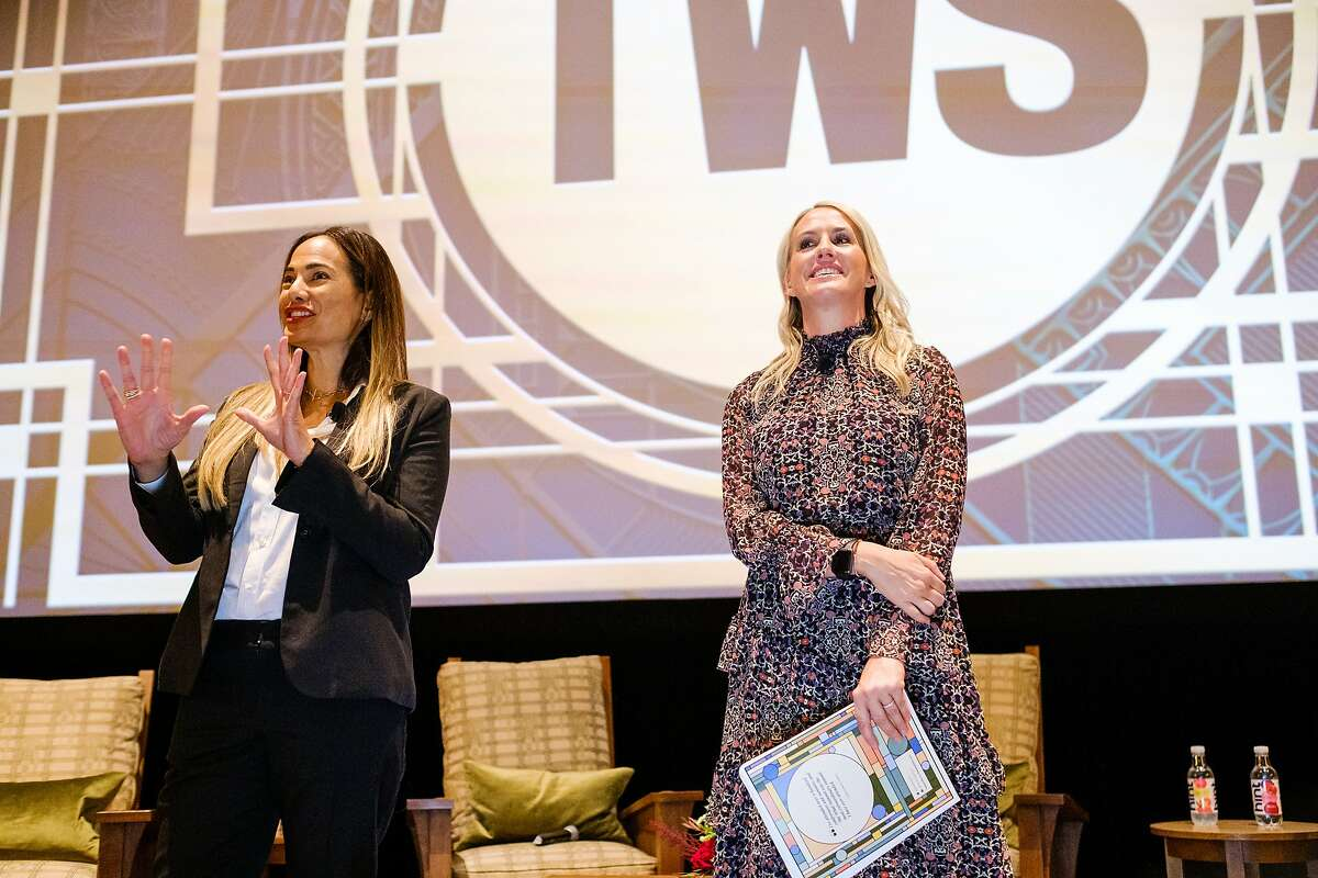 The What List founders Gina Pell (left) and Amy Parker at their 2nd annual What Summit. Oct. 17, 2019.