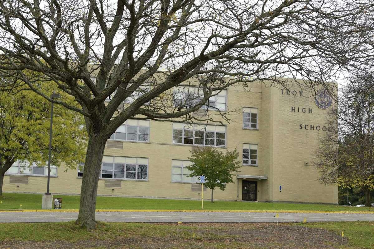 A view of Troy High School on Monday, Oct. 28, 2019, in Troy, N.Y. (Paul Buckowski/Times Union)