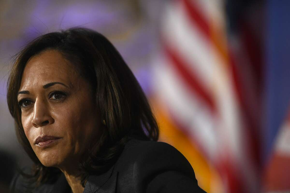 PHILADELPHIA, PA - OCTOBER 28: U.S. Democratic Presidential candidate, U.S. Senator Kamala Harris (D-CA) speaks during a town hall at the Eastern State Penitentiary on October 28, 2019 in Philadelphia, Pennsylvania. Formerly incarcerated individuals, their families, and others involved with the criminal justice system hosted the town hall with three 2020 Democratic presidential candidates. (Photo by Mark Makela/Getty Images)