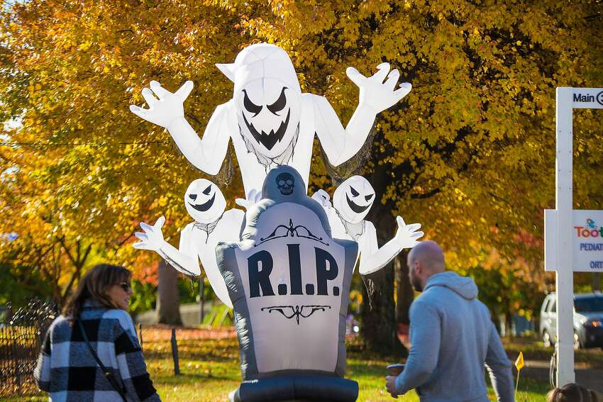 Seasonal decorations at the Halloween Walk on Saturday, Sept. 26, 2019 in Ridgefield, Conn. Seasonal decorations at the Halloween Walk on Saturday, Sept. 26, 2019 in Ridgefield, Conn.