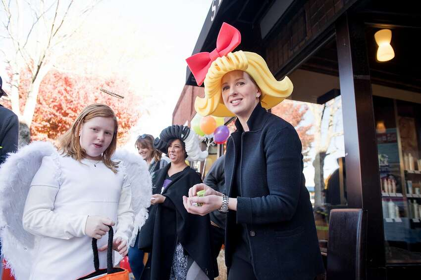 Kyle Black of Shine Salon gives out candy at Ridgefield Halloween Walk on Saturday, Sept. 26, 2019 in Ridgefield, Conn. Kyle Black of Shine Salon gives out candy at Ridgefield Halloween Walk on Saturday, Sept. 26, 2019 in Ridgefield, Conn.