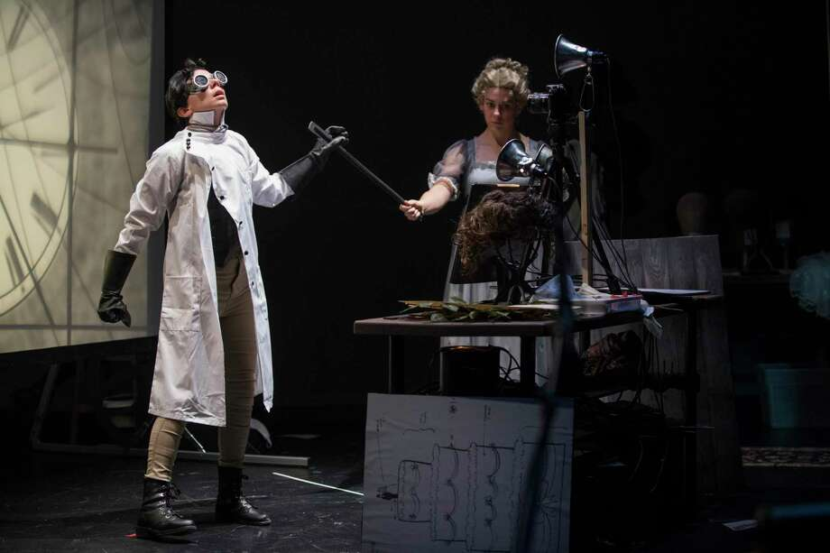 "Manual Cinema's ""Frankenstein"" will be presented by Yale Repertory Theatre as part of its No Boundaries performance series at University Theatre in New Haven, Nov. 7-9. Seen here are Sarah Furnace and Julia Miller. Photo: Michael Brosilow / Contributed Photo / BROSILOW"