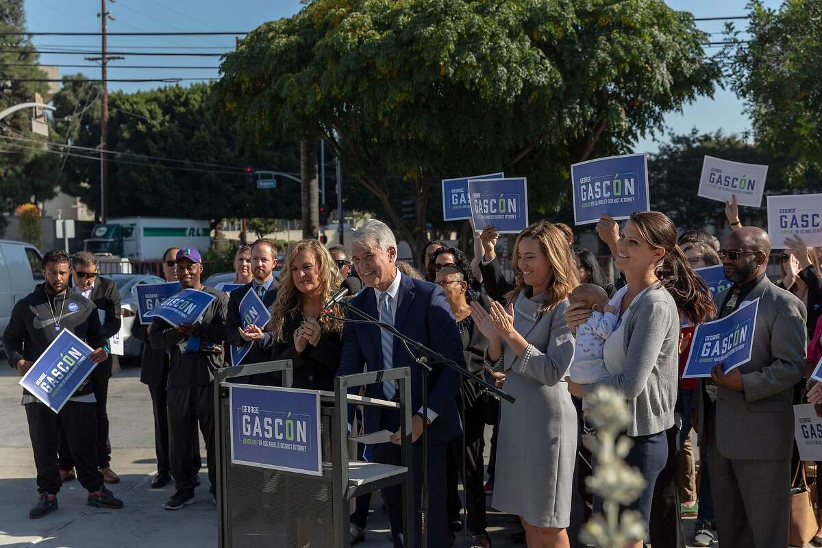 George Gascon announces in Los Angeles on Monday, Oct. 28, 2019, that he is entering the race for Los Angeles district attorney. Gascon is a former beat cop, police chief and district attorney of San Francisco. (Allison Zaucha/The New York Times)