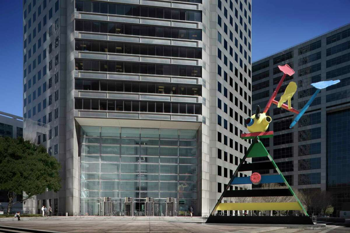 A Joan Miro sculpture at 600 Travis in downtown Houston.