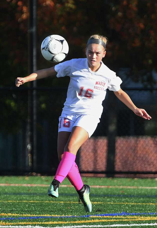 Masuk v. Notre Dame of Fairfield SWC girls soccer 0-0 tie in Fairfield, Conn. on Monday, October 28, 2019. Photo: Brian A. Pounds / Hearst Connecticut Media / Connecticut Post