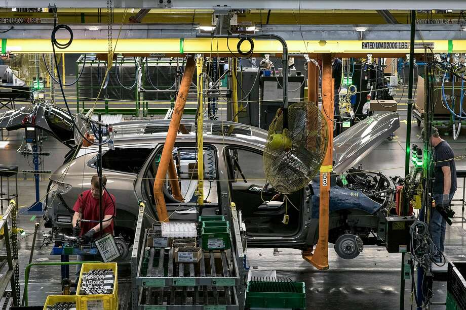 General Motors, Fiat Chrysler and Toyota said Monday they were siding with the Trump administration on emissions standards for automobiles. Photo: Brittany Greeson / New York Times 2017