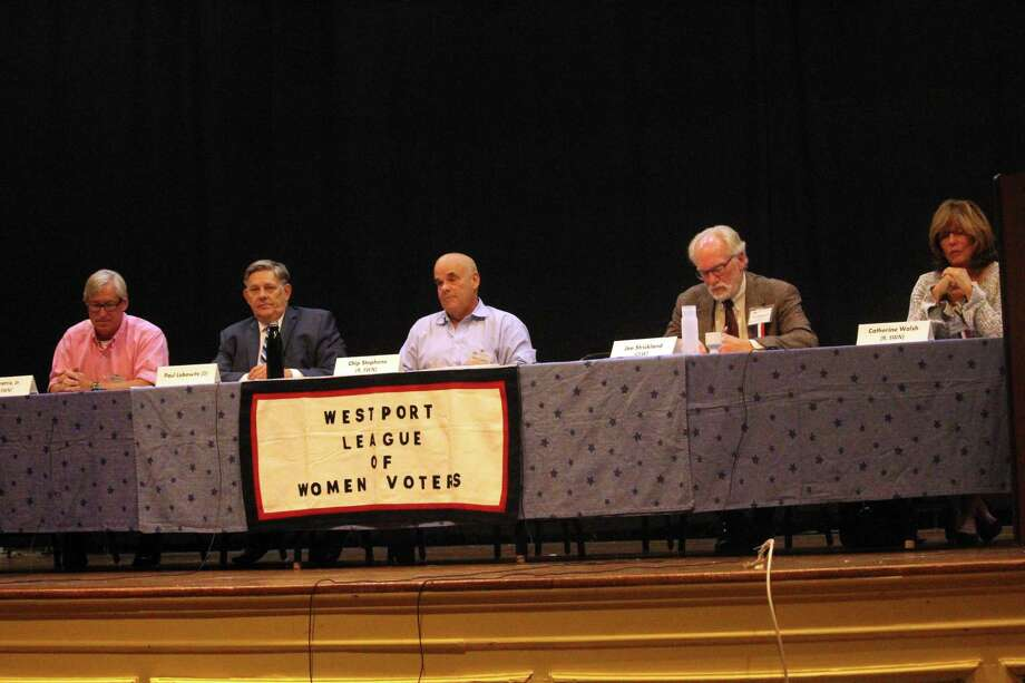 Candidates for the Planning and Zoning Commission at Monday's debate in town hall. Taken Oct. 28, 2019 in Westport, Conn. Photo: DJ Simmons/Hearst Connecticut Media