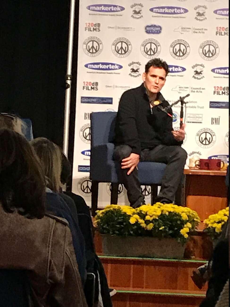 Matt Dillon talks about his film career at the Woodstock Film Festival on Oct. 5.