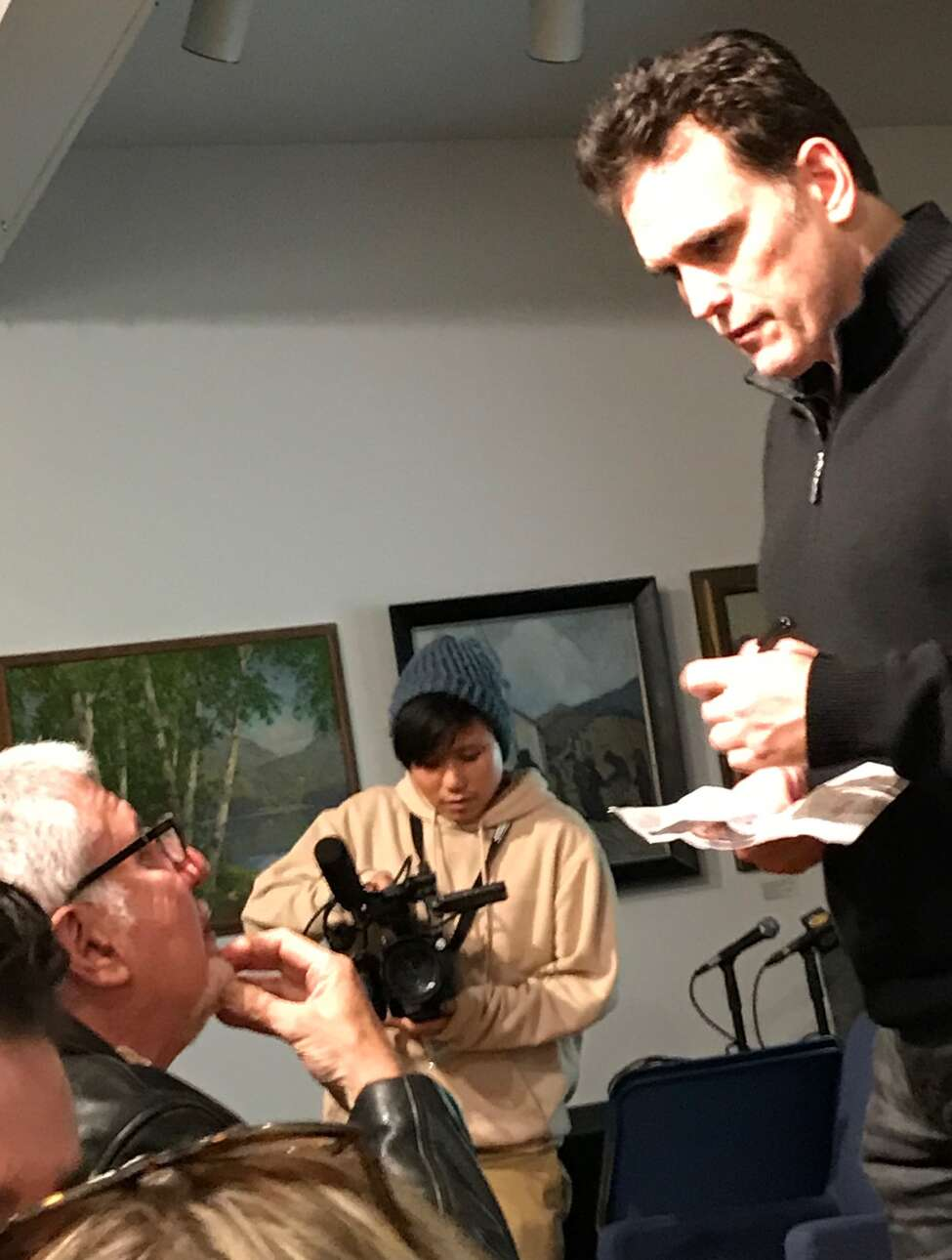 Matt Dillon signs an autograph for a fan at the Woodstock Film Festival on Oct. 5.