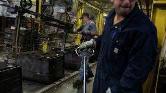 """MANITOWOC, Wis. - Sachin Shivaram, the chief executive of Wisconsin Aluminum Foundry, started to worry this summer when orders for his brake housings and conveyor belt motors first grew scarce. Within weeks, what began as mild concern snowballed into a business drought that has seen bookings plunge by 40%.   In August, Shivaram, 38, reluctantly laid off two dozen workers, hoping to recall them when the outlook improved. It hasn't.   """"Things are not good. We didn't anticipate this level of deterioration,"""" he said. """"Orders are down across the board.""""   The sudden slump at this 110-year-old company illustrates the economic erosion that is challenging President Donald Trump's signature promise to restore a lost era of American manufacturing greatness. Even as the $21 trillion U.S. economy continues growing, and unemployment hovers at a half-century low, factory activity has contracted for two consecutive months, according to the closely watched Institute for Supply Management index.   Many consumer-goods makers are still humming. But manufacturers that serve global markets are being buffeted by trade wars and profound uncertainty over the future.   Already, plants in several Midwestern states that will be crucial to the president's reelection campaign are shedding workers. Manufacturing employment is down by almost 9,000 in Pennsylvania over the past year and 6,800 in Wisconsin. Michigan, Indiana and Minnesota also have lost factory jobs, though in Ohio assembly lines continue to add them.   The president's tariffs on China, Canada, Mexico and the European Union - and those trading partners' retaliation against the United States - are sapping manufacturers' strength, economists said. Through August, Wisconsin companies' exports to China of $822 million were 25% less than in the same..."""