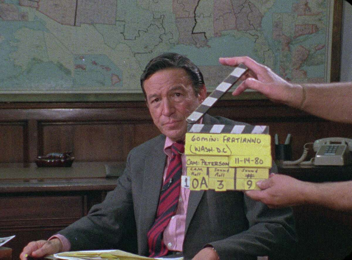 Mike Wallace, pictured in a scene from the documentary 'Mike Wallace Is Here,