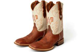 Whataburger and Justin Boots have partnered to release a pair of men's and women's Whataburger-branded boots.
