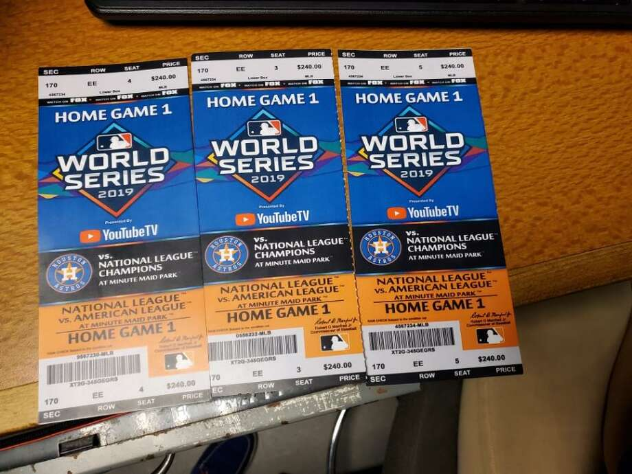 HSI officials said Astros fans should keep an eye out for counterfeit tickets such as the ones shown here. Photo: U.S. Immigration And Customs Enforcement