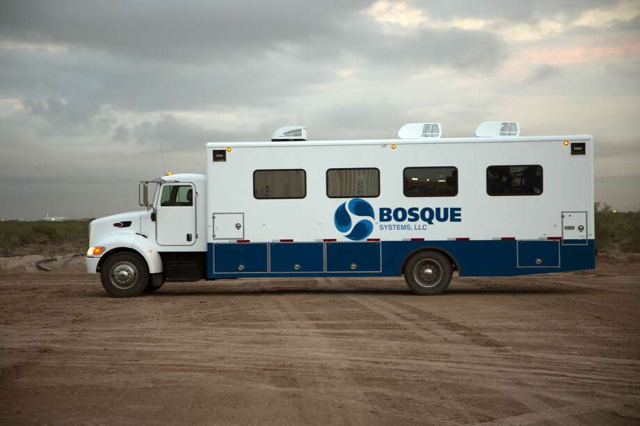 Bosque Systems' pressure pumping data van is part of the company's Well Shock technology, designed to restimulate legacy wells, increase injectivity in injection wells and impaired saltwater disposal wells. Photo: Courtesy Photo